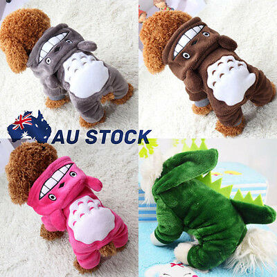 Pet Dog Winter Clothes Cat Totoro Sweater Hoodie Coat Puppy Apparel Costume AU