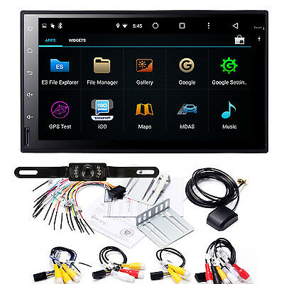 """7""""Android 6.0 Double 2 Din Car Stereo DAB+GPS Navigation 3G WiFi DVR OBD+Camera"""