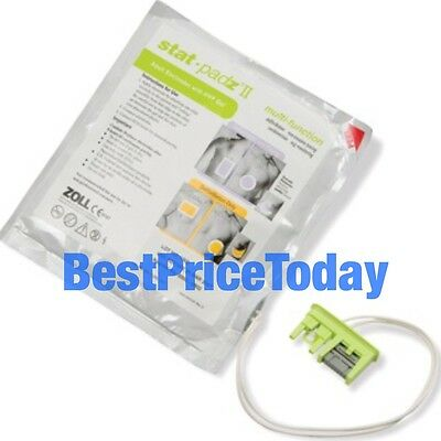 Zoll Stat Padz II 2 Electrodes Defibrillator Pads 2018 Zoll AED Pro defib New