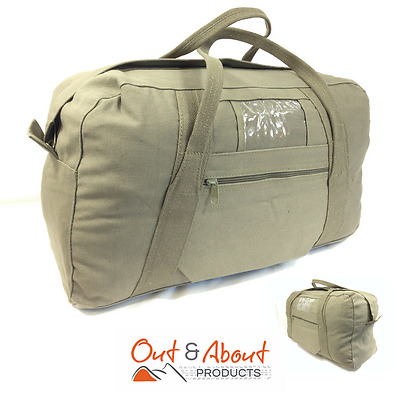 Army Style OLIVE Echelon Carry Duffle Bag H/Duty Canvas Duffel Bag Camping 24""