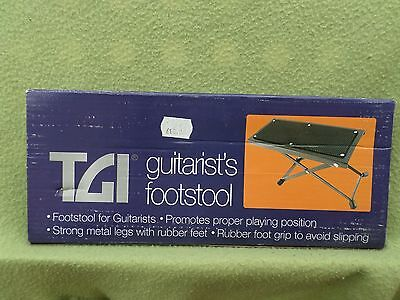 Guitarists Footstool by TGI - premium grade with metal legs and rubber foot grip