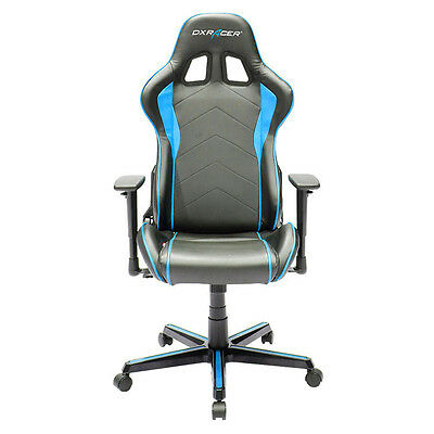 DXRacer OH/FH08/NB Formula Series Black and Blue Gaming Chair - 2 free cushions