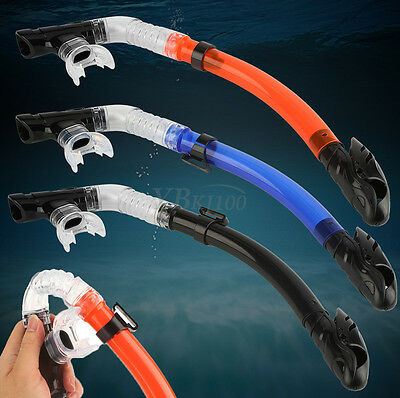 Flexible Totally Dry 1 Valve Snorkel Scuba Swimming Diving Snorkeling Underwater