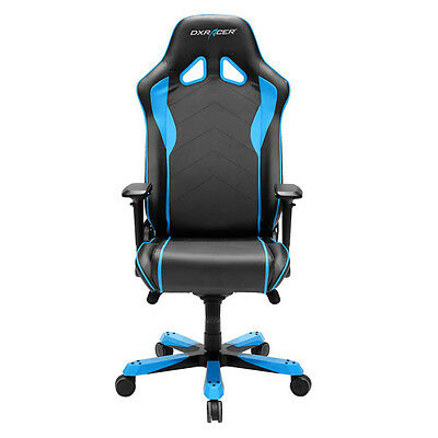 DXRacer OH/SJ08/NB Sentinel Series Black and Blue Gaming Chair - 2 free cushions