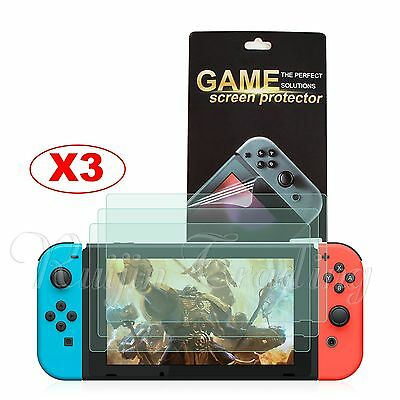 3Pcs Soft PET Screen Protector HD Film Slim Guard Ptotective For Nintendo Switch