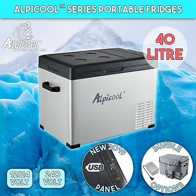40L Portable Fridge Freezer Camping Car Caravan Boat Cooler Refrigerator