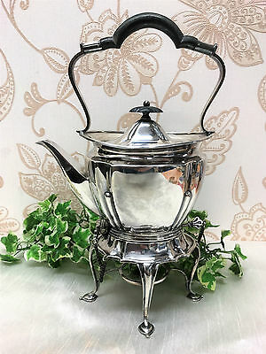 Antique Victorian Roberts & Belk Sheffield Silver Plated Spirit Kettle c.1890