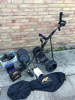 Powakaddy Electric Golf Trolley With Two Batteries, Charger, 2 Sets Of Wheels