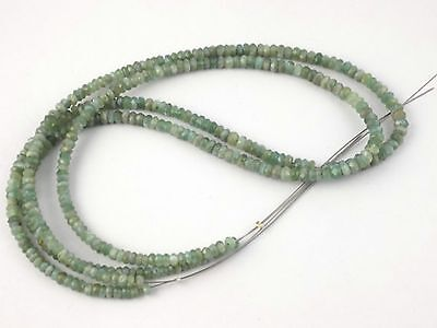"""1 Strand Cats Eye 3.5-4mm Faceted Rondelle Gemstone Beads Strand 14""""Long"""