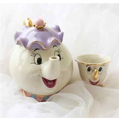 Disney La Belle Et La Bete Madame Samovar Zip Theiere Tasse Mrs Potts Chip Japon