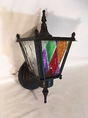 Vtg Outdoor Porch Sconce 50s Wall Light Mid Century Arts Crafts Lantern Mission
