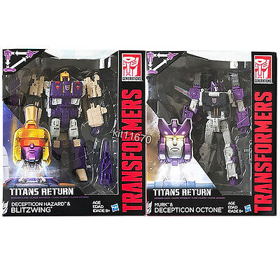 Sale Now Transformers Titans Return W3/17 Voyager Murk Octone Hazard Blitzwing