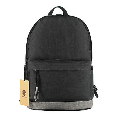 Makimoo Water Resistant Polyester  with USB Charging Port  Backpack Black