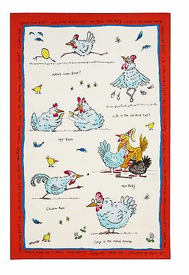 """Ulster Weavers, """"Hen Party"""" by Ann Edwards, Pure linen printed tea towel"""