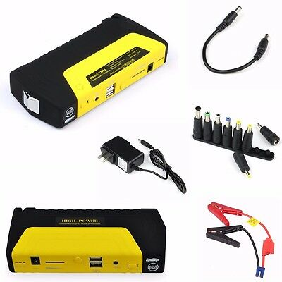 Car Jump Starter Pack Booster Emergency Charger Battery Power Bank SOS