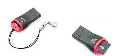 2x Micro SD to USB 2.0 Flash Memory Card Reader Adapter for PC/Laptop