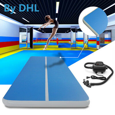 12M Inflatable Gym Mat Air Floor Tumbling Track Gymnastics Cheerleading Mat Pad