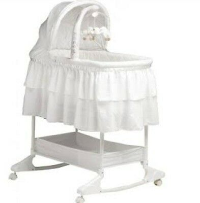 Childcare Chloe Rocking Bassinet White. Local pickup only.