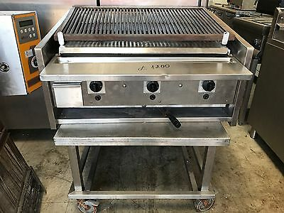Archway 3 Burner Long Charcoal Grill With Table