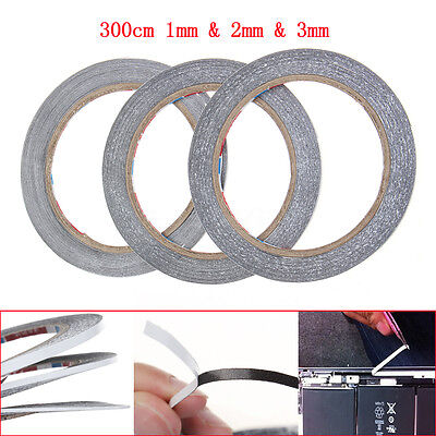 3Pcs 300cm 1mm+2mm+3mm Double Side Adhesive Tape For Repair Touch Screen Phone