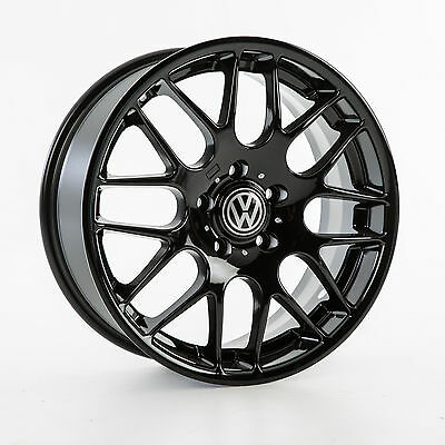 Vw Golf Mk5 Mk6 18 Inch Gloss Alloy Wheels And 225/40 18 Tyres X 4