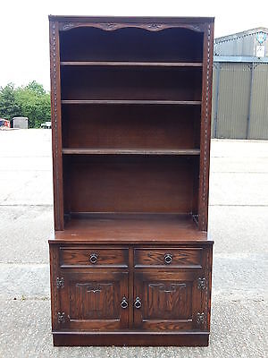 Superb Jaycee Furniture tall bookcase wall unit with cabinet base old charm 8114