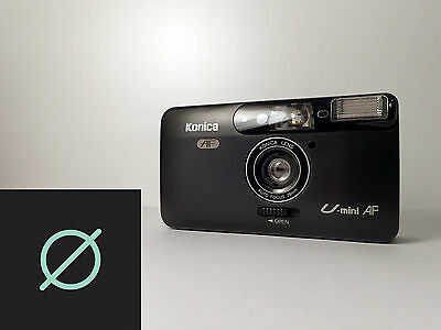 Konica U mini AF Point and Shoot 35mm Camera with Case * big mini *