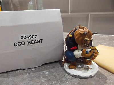 Disney Grolier Beast Beauty & The Beast Christmas Tree Ornament Boxed