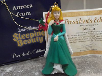 Disney Grolier Presidents Sleeping Beauty Aurora Christmas Tree Ornament Boxed