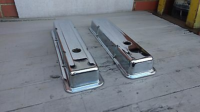 Aeroflow Style Sb Chev Tappet Covers Low Without Logo Chrome Valve Covers-As New
