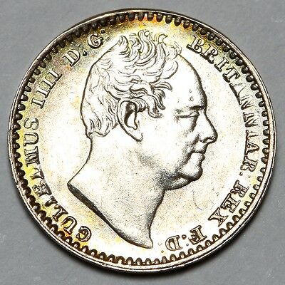 1837 King William Iv Iiii Great Britain Silver Penny 1D Coin