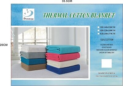 All Cotton Thermal Blanket/Bedspread/Coverlet set Single Queen King