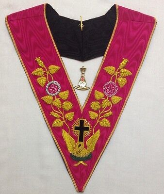 High Quality Rose Croix 18 Degree Collar And Jewel  (brand New)