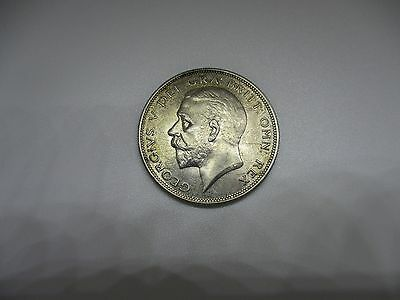 King George V 1929 Silver  Half Crown . Uncirculated With full lustre.