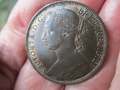 1891 QUEEN VICTORIA  Penny. High grade with some lustre.