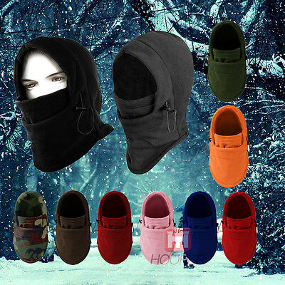 Thermal Fleece Balaclava Hood Cap Winter Ski Bike Mask Hat Headscarf Warm Unisex