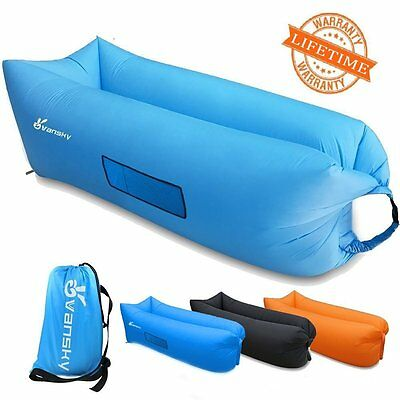 Vansky Outdoor Inflatable Lounger Hammock Portable Air Couch Air Filled