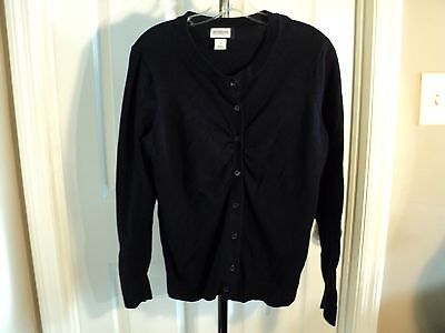 Women's Sweater Motherhood Maternity Fineknit Navy Blue Cardigan M (bx#K)