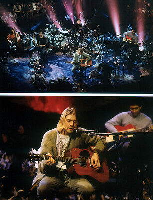 Nirvana Poster Page Kurt Cobain 1993 Unplugged Montage . Nevermind . N31