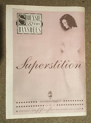 Siouxsie Banshees Superstition 1991 press advert Full page 30 x42 cm mini poster