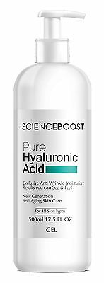 PURE HYALURONIC ACID 500ml ANTI AGING ANTI WRINKLE STRONGEST IN NL HYALURONZUUR