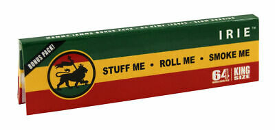 1 Box (24x) IRIE Rasta Papers King Size Extra leichte Hanfpapers papel liar