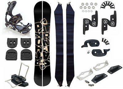 Snowboard Splitboard Pathron Scratch + Voile Splitboard Hardware + SP FT Bindung
