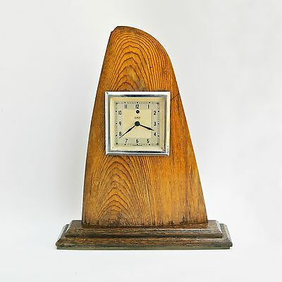 art drco BRITISH TEMCO ELECTRIC WOODEN MANTEL CLOCK