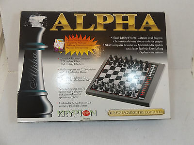 Alpha Krypton chess and checkers computer, 72 levels.