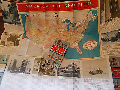 "1960s Esso ""Picture Map of the United States"" Vintage Map / Nice! / Near MINT!"