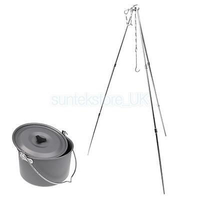 Portable Cooking Tripod Grill Lantern Hanger Lantern Oven Holder Stand & Pot