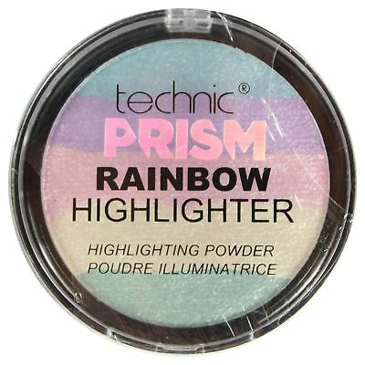 Technic Prism Rainbow Highlighting Powder Eyeshadow Unicorn Highlighter Make Up