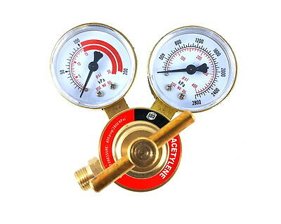 SÜA - Acetylene Regulator Welding Gas Gauges - CGA-200 - Rear Connector - LDB