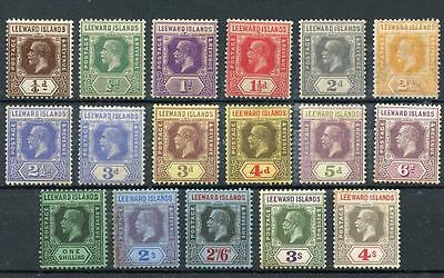 Leeward Islands 1921-32 values to 4s MM cat £115 - see desc